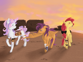 Cutie Mark Crusaders underworld color by Dr-Foxe