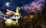 CE: Fennekin Wallpaper Pokemon X Y Generation 6 by shadowhatesomochao