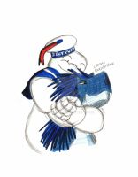 Mr. Stay Puft Hugs Rexy by RexyGal