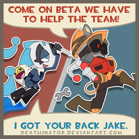 Jake and Beta play TF2 by Deathinator