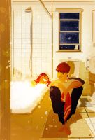 Warm baths are the best. by PascalCampion
