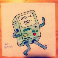 NapkinArt - 001 - Press Start to Begin! - BMO by PeterParkerPA