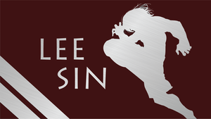 Lee Sin Silhouette - Red - 1920x1080 by urban287