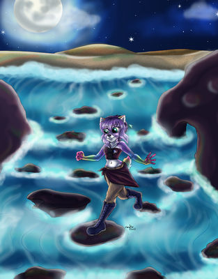 Crossing the Stream by PurpleZombieTigress