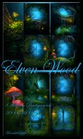 Elven Wood backgrounds by moonchild-ljilja