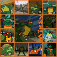 TMNT:: Mikey: collage: 2003 by Culinary-Alchemist
