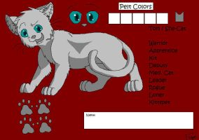 Warrior Cats Ref Template by Felyre95