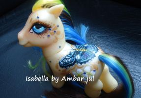 My little pony custom butterfly Isabella by AmbarJulieta