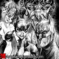 Batman and Co. by ARTofANT