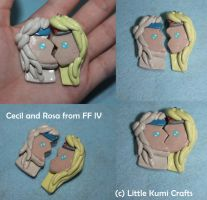 Cecil and Rosa FFlV half Charms by lkcrafts