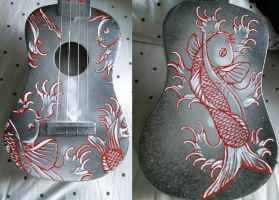 Uke with Koi fish by ShunAndromeda