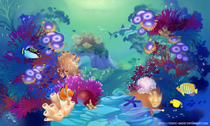 Tropical coral reef by Static-ghost