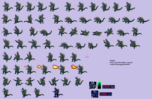 Gigan BL Sprite Sheet by Burninggodzillalord