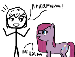 Pinkamena's Visiting by darksoma905