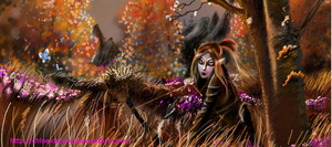 Aronansa hunting in the rift (resized) by ChloexBowie