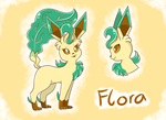 Flora the Leafeon by PlatinaSena