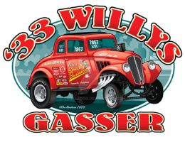 33 Willys Gasser by yankeedog