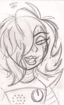Mettaton sketch card by KuronekoGrimm