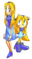 Maria Robotnik and hedgehog by catiexshadow
