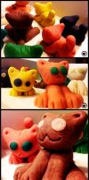 Marzipan cats by ChaconTilune