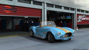 Cobra 427 Gulf team pit stop by RJamp