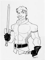 Sketch 039 of 100... FANDRAL by misfitcorner
