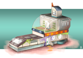 Moonbase Home Concept by Spikings
