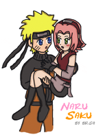 Sakura and Naruto again by brsa