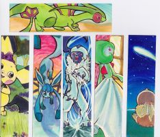 K.V. 6 Pokemon Bookmarks (Front Side) by karookachoo
