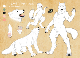 Tom as werewolf - reference by VixenDra