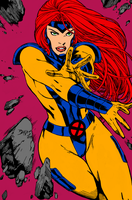 Jean Grey Ink and Color by XinMyForehead