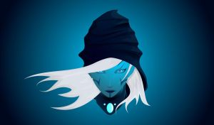 Dota 2 Fan Art Wallpaper - Drow Ranger by nipchinkdog