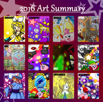 Plucky's Art Summary -2016, read below for recap- by Plucky-Nova