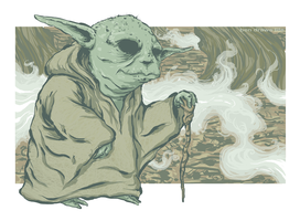 Yoda on Dagobah by bensigas