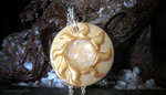 Golden Sun Faux Opal Pendant by ShinyCation