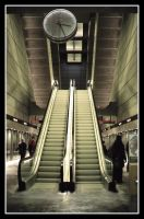 Copenhagen metro station by siffen-shots