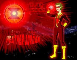 Young Justice Scarlet Ray Heather Jordan by KiteBoy1