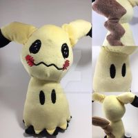 Mimikyu Pokemon Fanart Plush by BeeNerdishCrafts