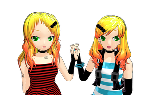 MMD Twins WIP by brsa