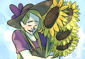 Sunflowers by curiousdoodler