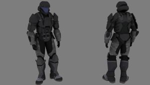 My ODST WIP 9 NC by Robotlouisstevenson