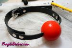 Hand Made Classic BallGag in Medical grade silicon by FragileDesires