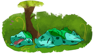 sleepy bulbas by coffeebandit