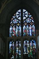 window in cathedral in Liege by ingeline-art
