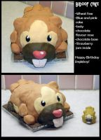 Bidoof Birthday Cake by PixelMecha