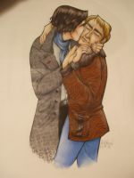 Homoerotic Sherlock Watercolors by silverinslette