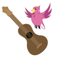 [Request] Cutie Mark: Pink Jay Guitar by Liggliluff