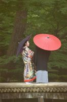 Japanese Bride And Groom by Agathalizz