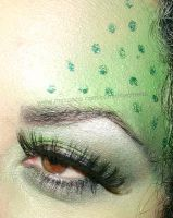 Monochromatic Green Eye Makeup by anilorac186