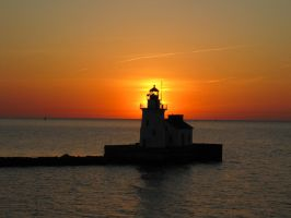 Sunset Lighthouse by Kreskell